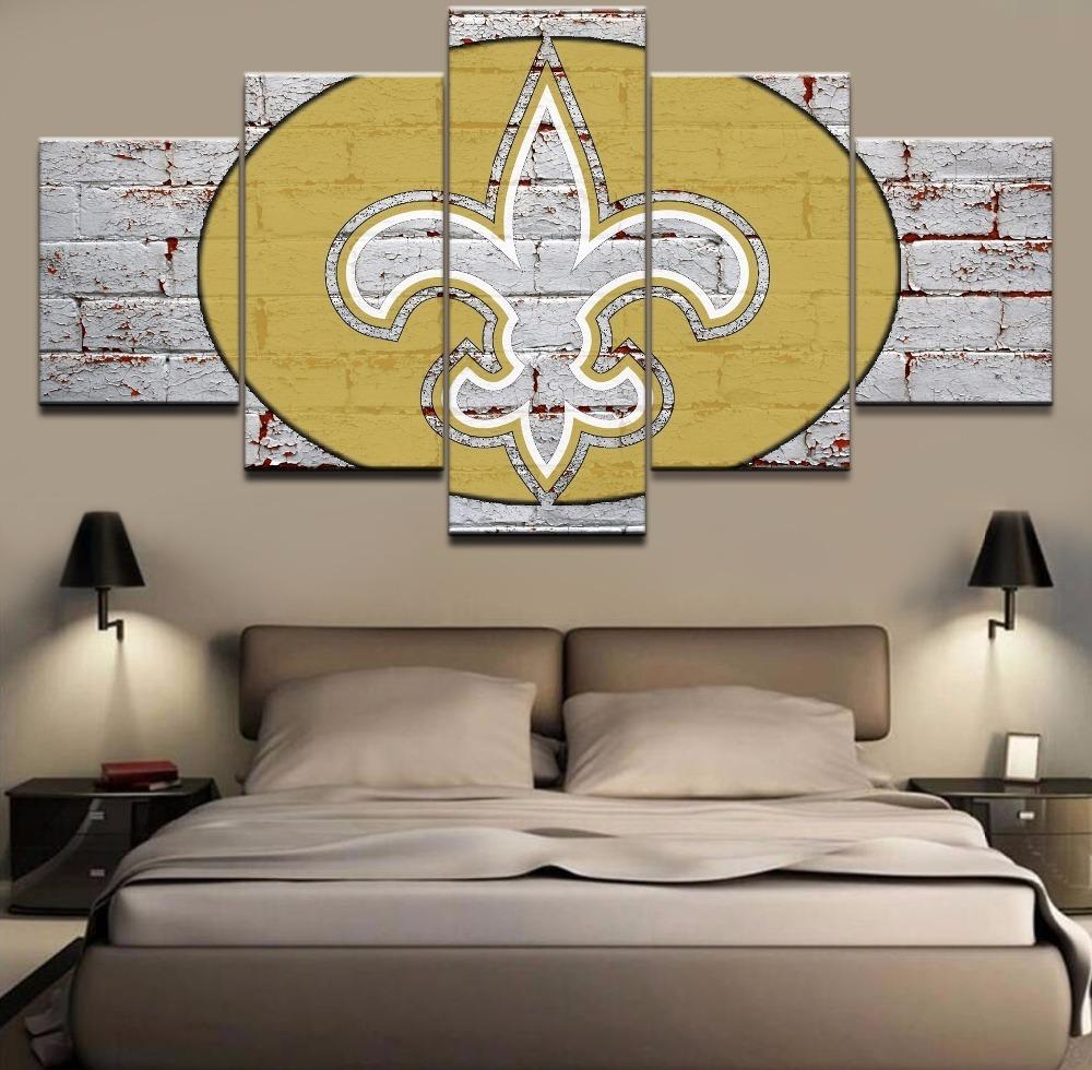 5 Piece New Orleans Saints Football Team Sports Canvas - It Make Your Day