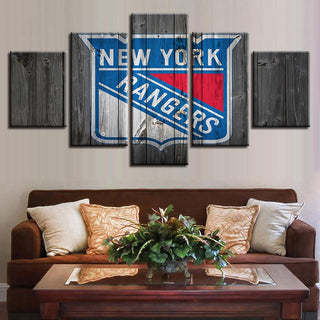 5 Piece New York Rangers 6 Hockey Canvas Wall Art Paintings - It Make Your Day