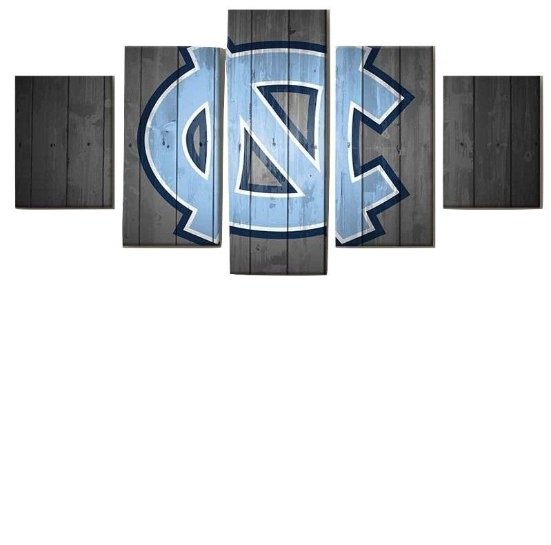 5 Piece North Carolina Tar Heels Team Canvas Wall Art Paintings - It Make Your Day