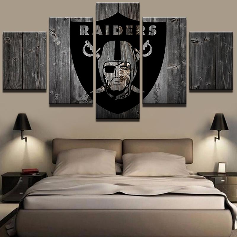5 Piece Oakland Raiders American Football Canvas Painting - It Make Your Day