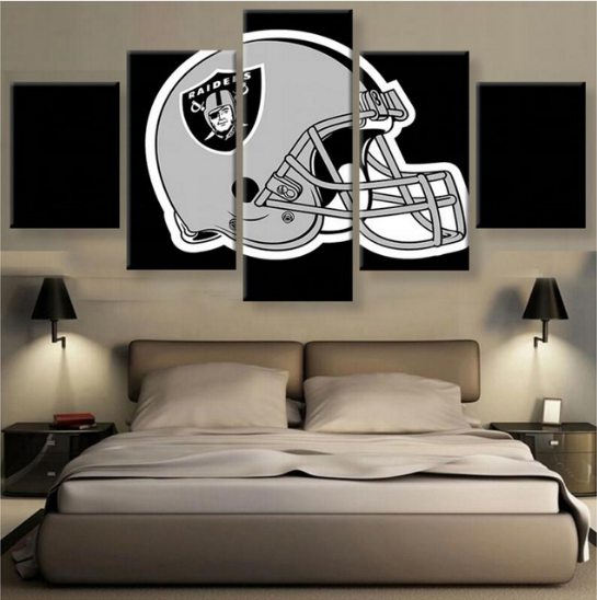 5 Piece Oakland Raiders Fans Sports Team HD Printed Canvas - It Make Your Day