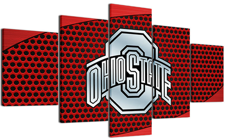 5 Piece Ohio State Buckeyes Prints Canvas Paintings - It Make Your Day