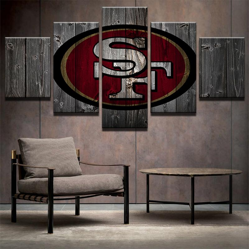 5 Piece San Francisco 49ers American Football Canvas - It Make Your Day