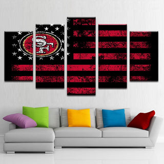 San Francisco 49ers Football American Flag