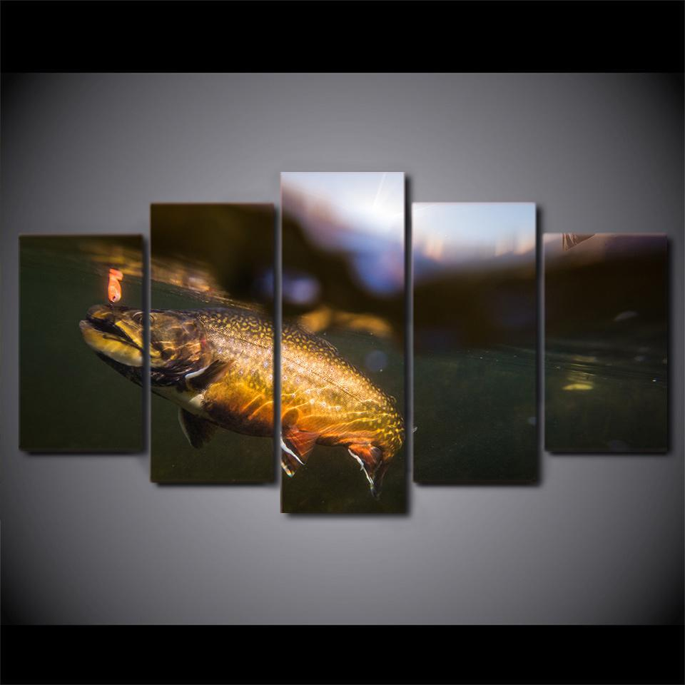 5 Piece Small Fish In The Lake Canvas Wall Art Sets - It Make Your Day