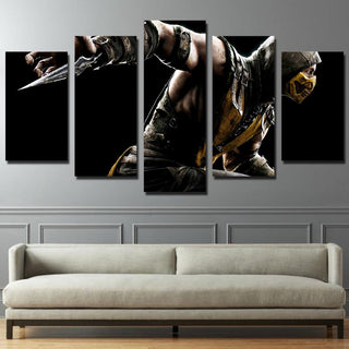 5 Piece Star War Mortal Kombat Movie Canvas Wall Art Paintings - It Make Your Day