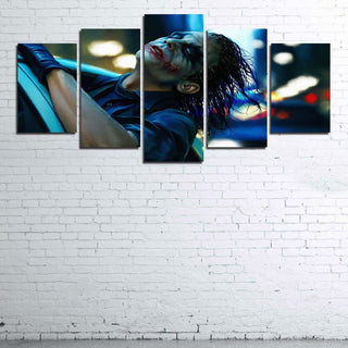 5 Piece The Dark Knight Joker Movie Print Canvas Wall Art Paintings - It Make Your Day