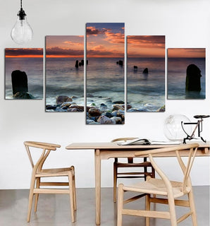 5 Piece Ocean View Canvas Paintings - It Make Your Day