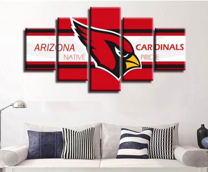 5 Piece Arizona Cardinals Red Bird Canvas Wall Art Paintings For ...