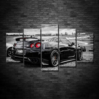 5 Piece Wall Art Nissan GTR  Canvas - It Make Your Day