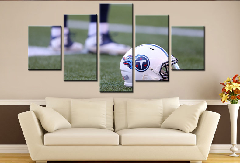 5 Piece Tennessee Titans Helmet Wall Art Canvas Paintings - It Make Your Day