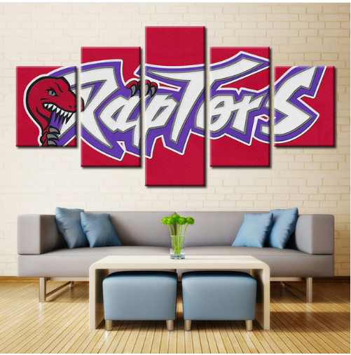 5 Piece Toronto Raptors Sports Boys Canvas Paintings - It Make Your Day