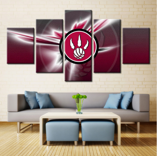 5 Piece Toronto Raptors Sports Team Canvas Paintings - It Make Your Day