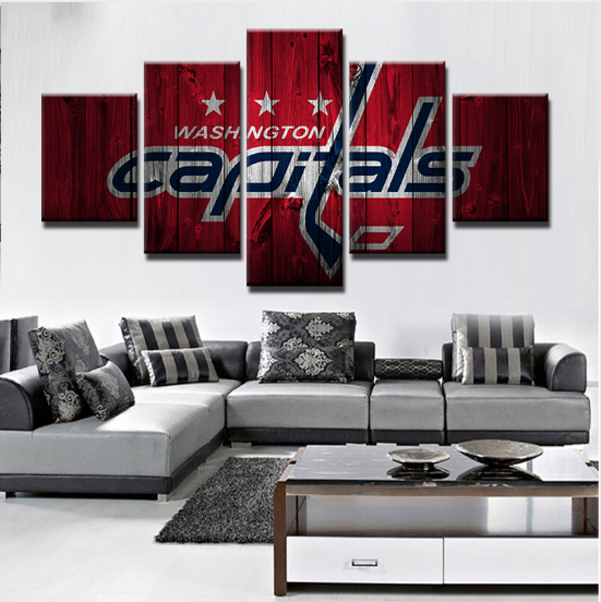 5 Piece Washington Capitals 2 Hockey Canvas Paintings - It Make Your Day