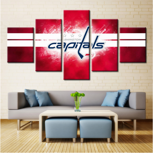 5 Piece Washington Capitals 8 Hockey Canvas Paintings - It Make Your Day