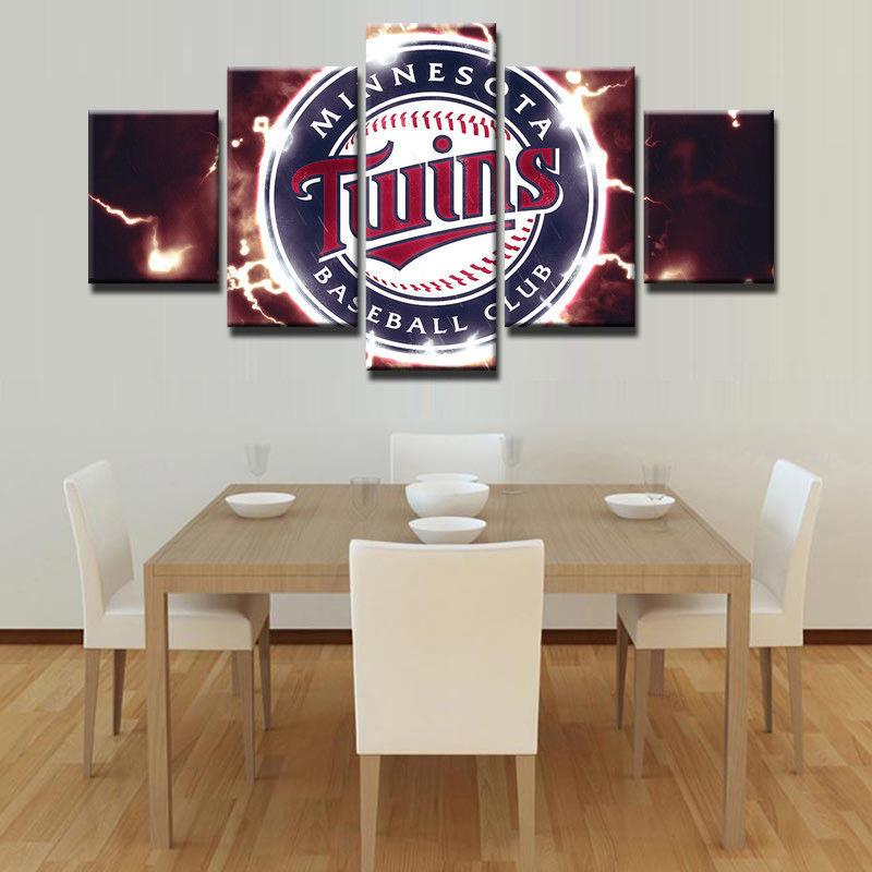 5 Piece Minnesota Twins Baseball Canvas Art Painting Frames For Sale ...