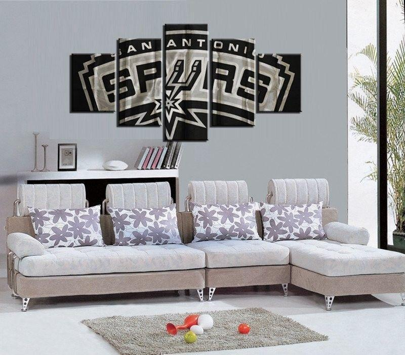 5 Piece San Antonio Spurs Basketball Canvas Painting Wall Art - It Make Your Day