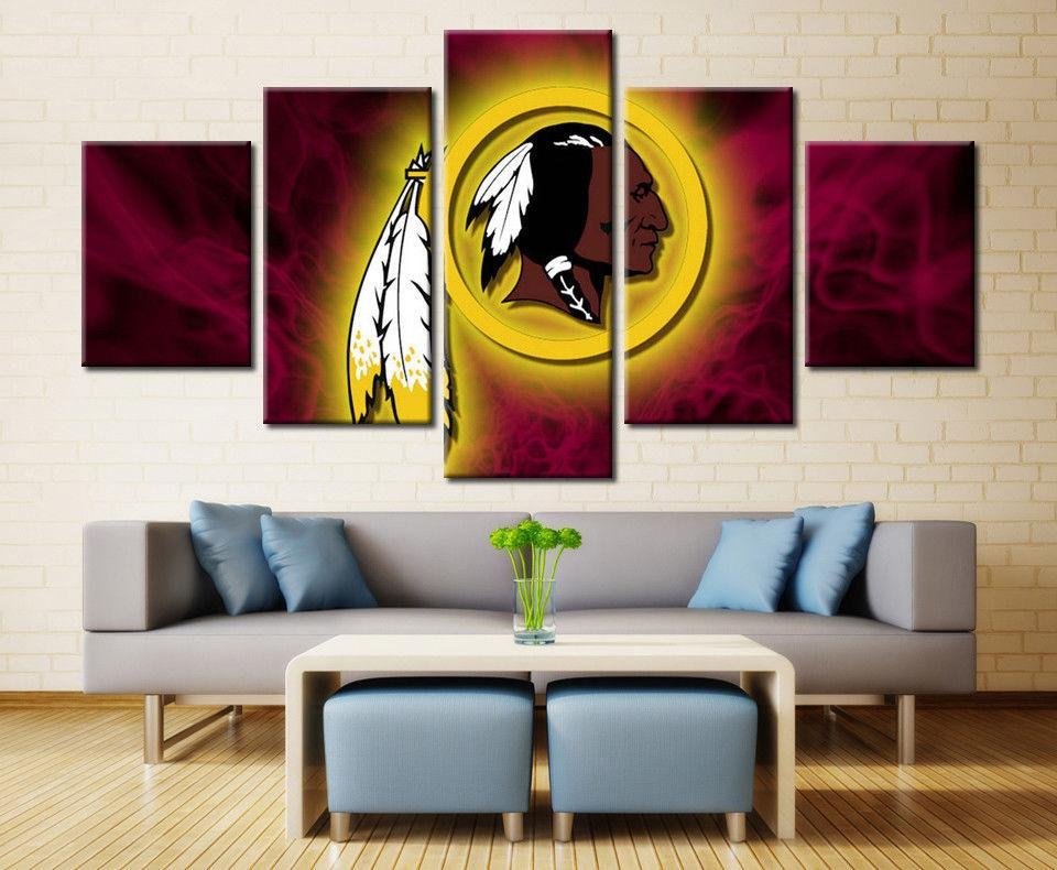5 Piece Washington Redskins Poster Print Canvas Wall Art - It Make Your Day