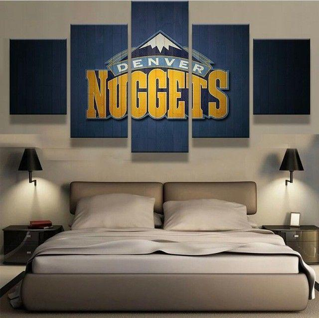 5 Piece Denver Nuggets Basketball Canvas Painting Wall Art - It Make Your Day
