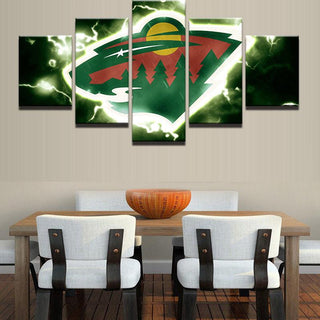 5 Piece Minnesota Wild 1 Ice Hockey Canvas - It Make Your Day