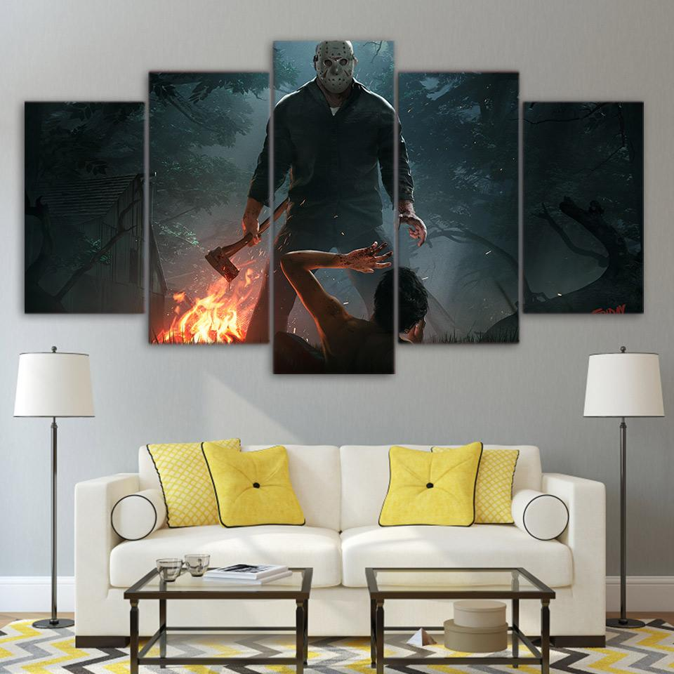 5 Piece Friday the 13th movie HD Canvas Paintings - It Make Your Day