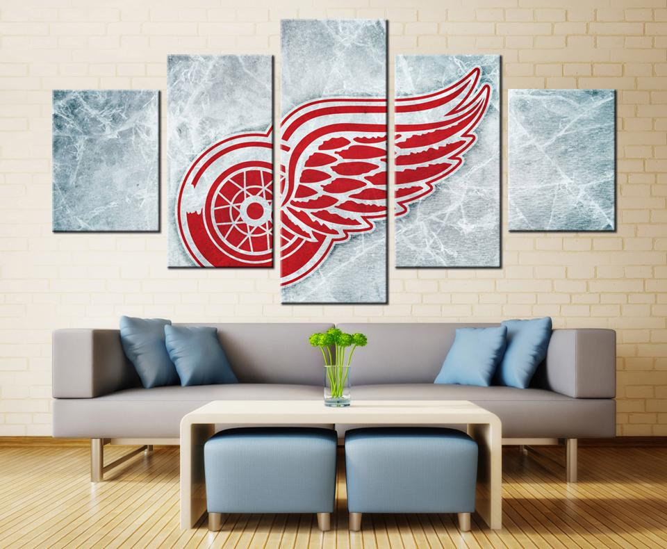 5 Piece Detroit Red Wings 2 Hockey Canvas - It Make Your Day