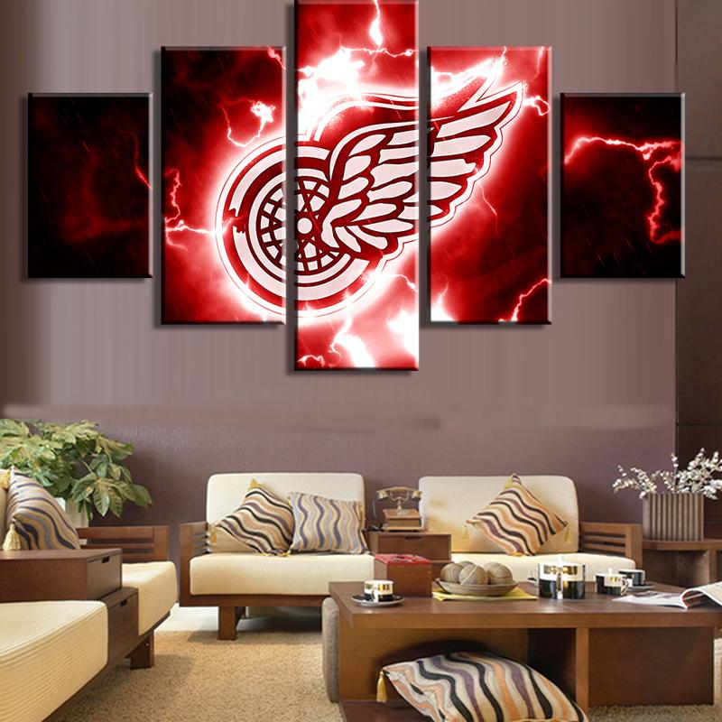 5 Piece Detroit Red Wings 1 Hockey Canvas - It Make Your Day