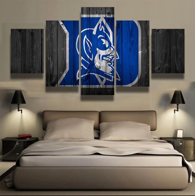 5 Piece Duke Blue Devils Basketball Canvas Painting Wall Art - It Make Your Day