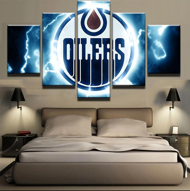 5 Piece Edmonton Oilers 4 Hockey Canvas - It Make Your Day