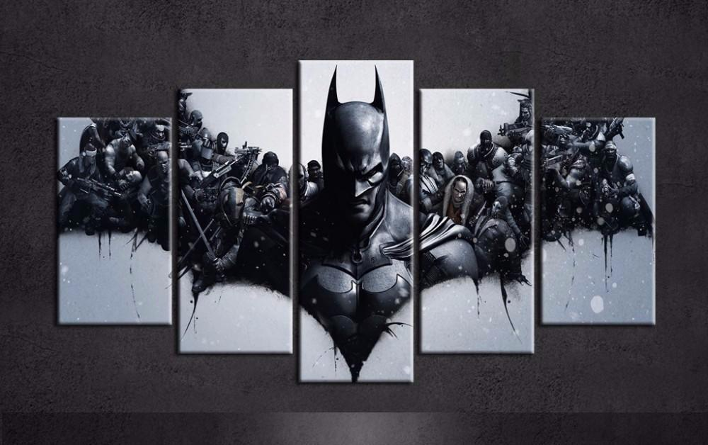 5 Piece Harley Quinn Joker Batman Movie Canvas Painting Wall Art - It Make Your Day