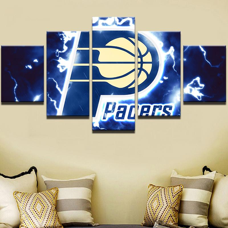 5 Piece Indiana Pacers Basketball Canvas Painting Wall Art - It Make Your Day