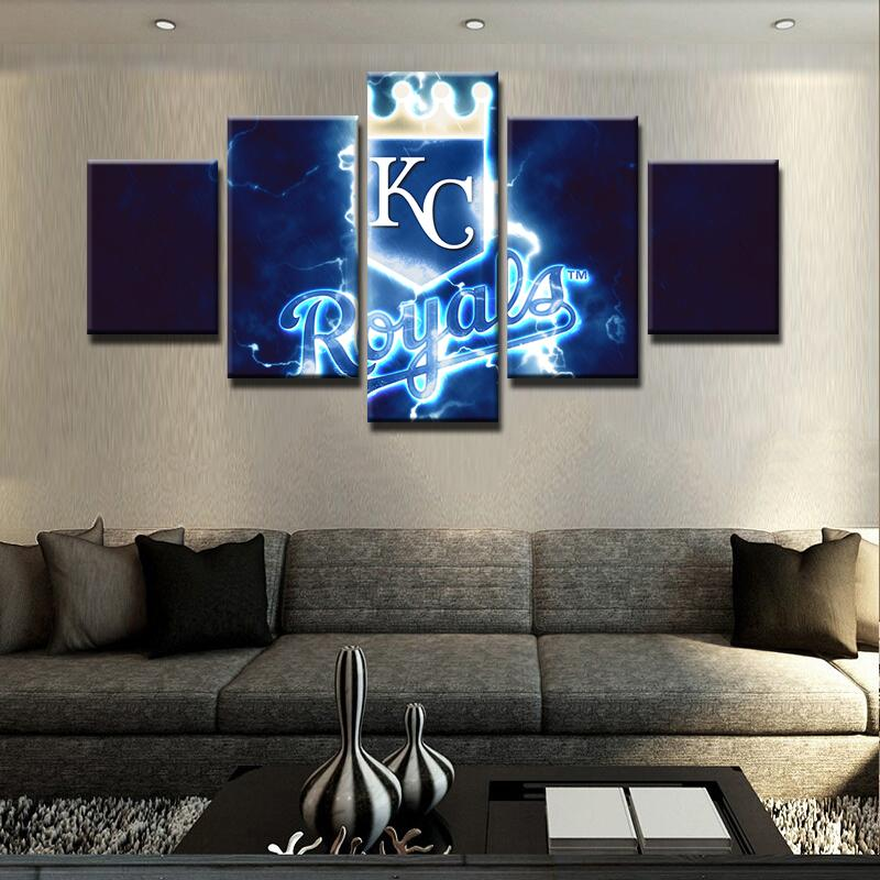 ... 5 Piece KC Royals Team Baseball Canvas Painting Frames - It Make Your Day ... & 5 Piece KC Royals Baseball Canvas Wall Art Painting Frames For Sale ...