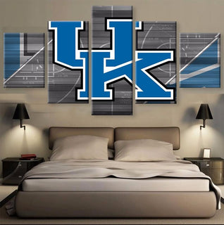 5 Piece Kentucky Wildcats Team Basketball Canvas Painting Wall Art - It Make Your Day