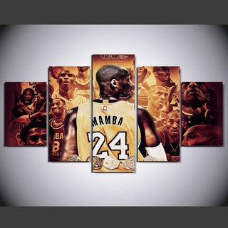 5 Piece Kobe Bryant Basketball Canvas Painting Wall Art - It Make Your Day