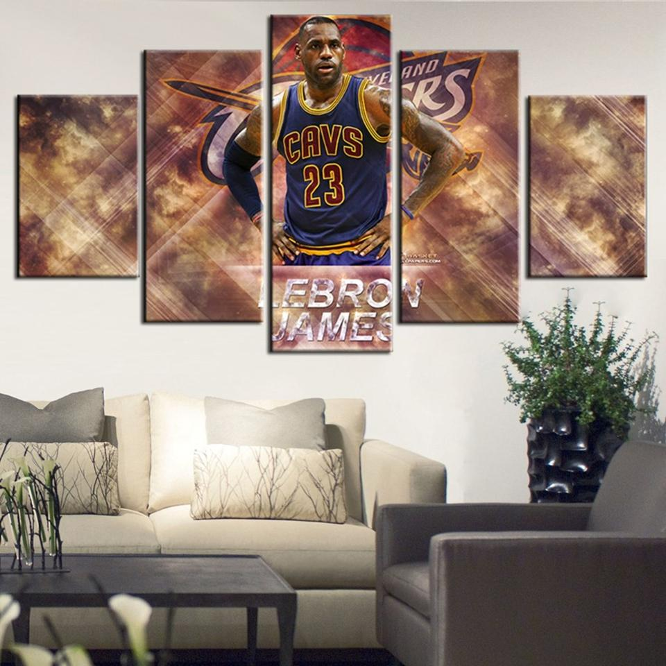 5 Piece Lebron James Basketball Canvas Painting Wall Art - It Make Your Day