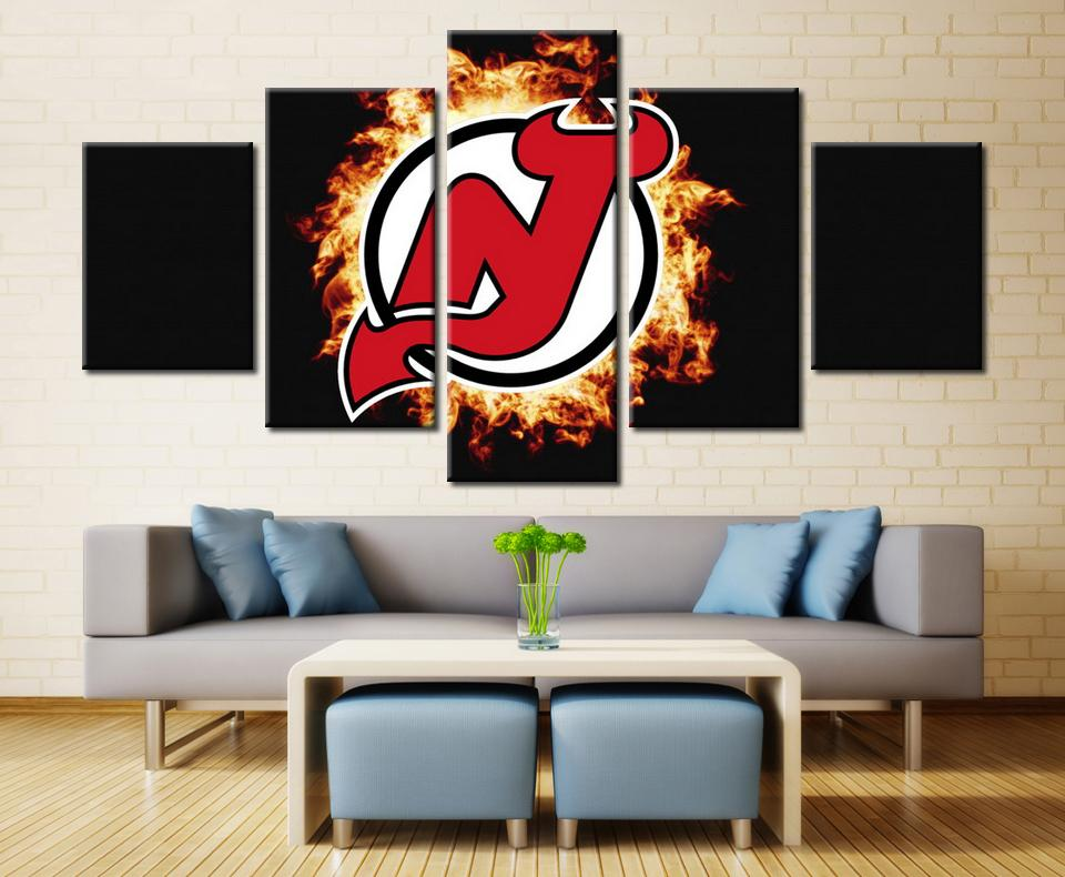 5 Piece New Jersey Devils 6 Hockey Canvas - It Make Your Day