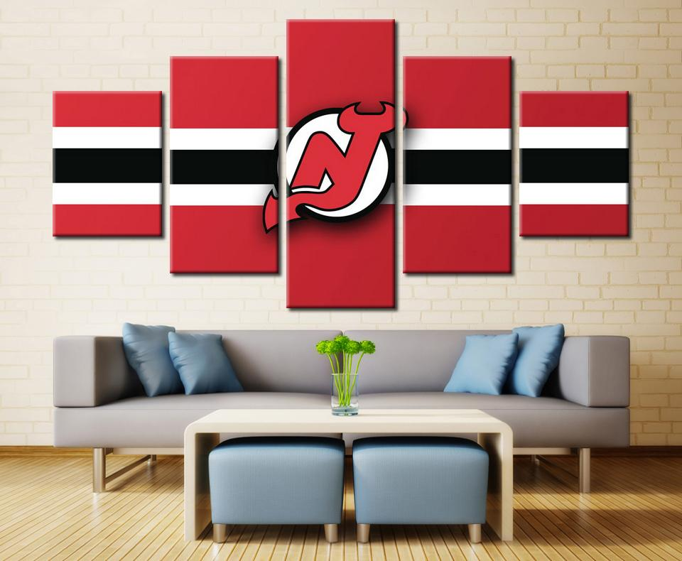 5 Piece New Jersey Devils 5 Hockey Canvas - It Make Your Day