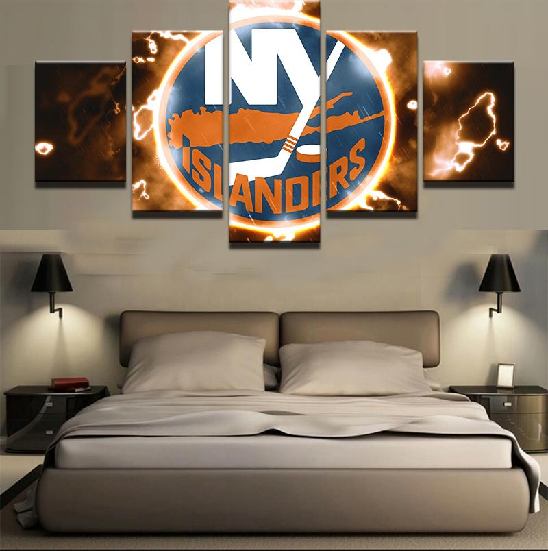 5 Piece New York Islanders 2 Hockey Canvas - It Make Your Day