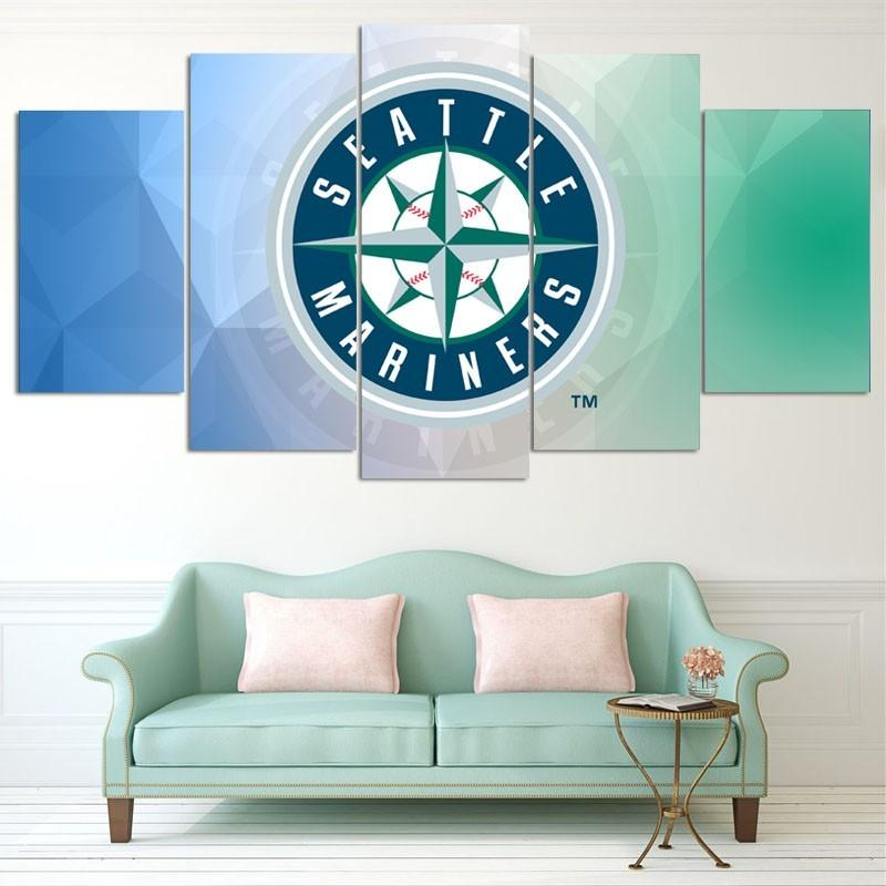 5 Piece Seattle Mariners Baseball Canvas Painting Frames For Sale ...
