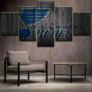 5 Piece St. Louis Blues 2 Hockey Canvas - It Make Your Day