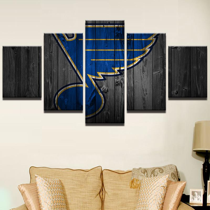 5 Piece St. Louis Blues 1 Hockey Canvas - It Make Your Day