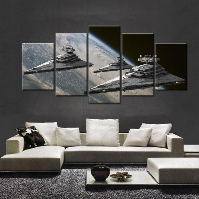 5 Piece Star Wars Star Destroyer Movie Canvas Painting Wall Art - It Make Your Day