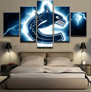 5 Piece Vancouver Canucks 3 Hockey Canvas - It Make Your Day