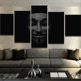 5 Piece Textography Anonymous Canvas Wall Art Paintings - It Make Your Day