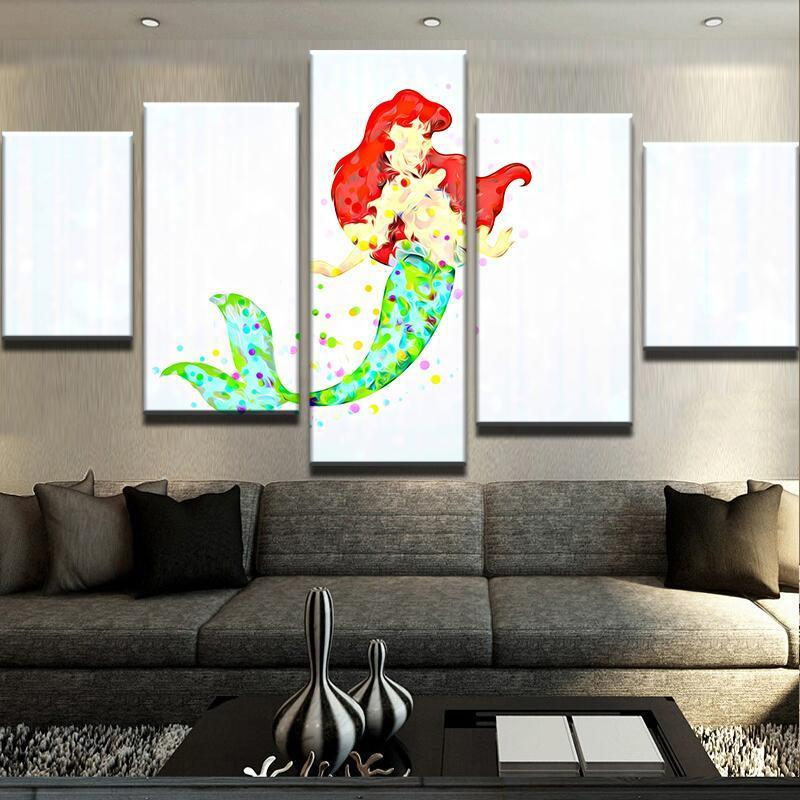 5 Piece Ariel Abstract Movie Canvas Wall Art Paintings - It Make Your Day