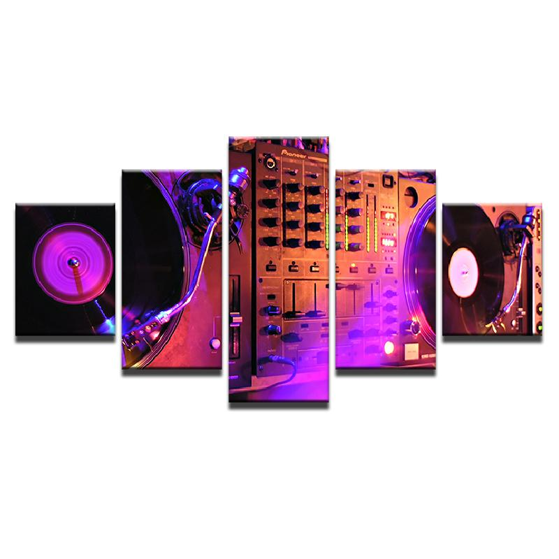 5 Piece Music DJ Console Instrument Mixer Canvas - It Make Your Day
