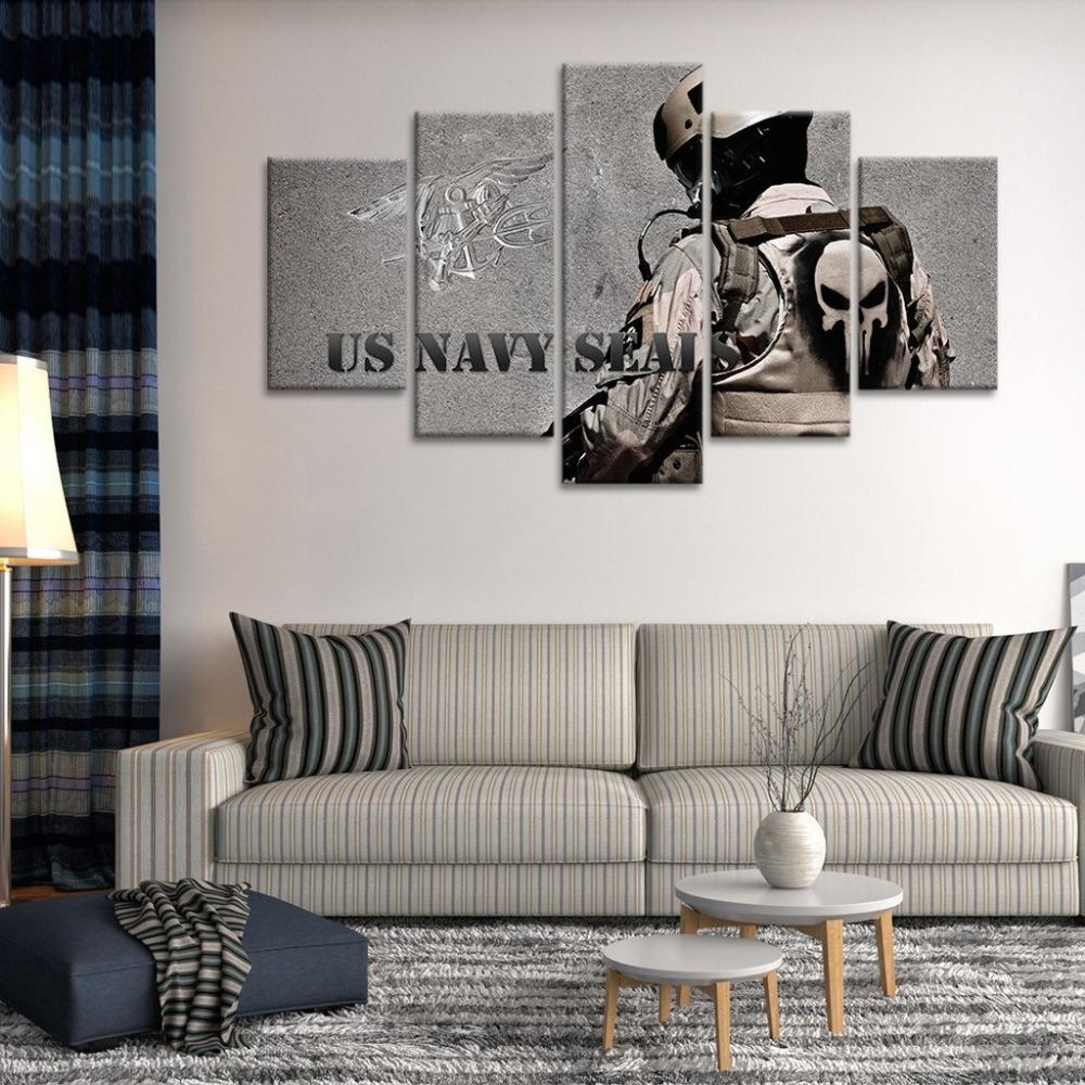 "American US Navy Seal ""Proud Soldier"" Canvas Painting Wall Art - It Make Your Day"