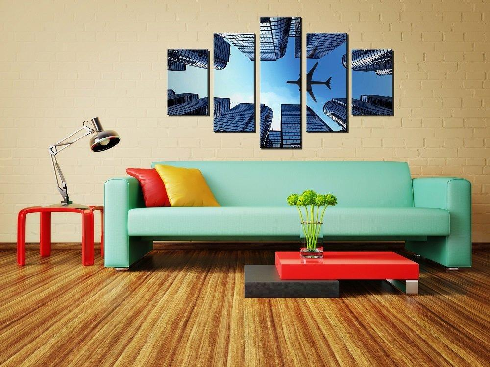 5 Piece Airplane Art Canvas Painting - It Make Your Day