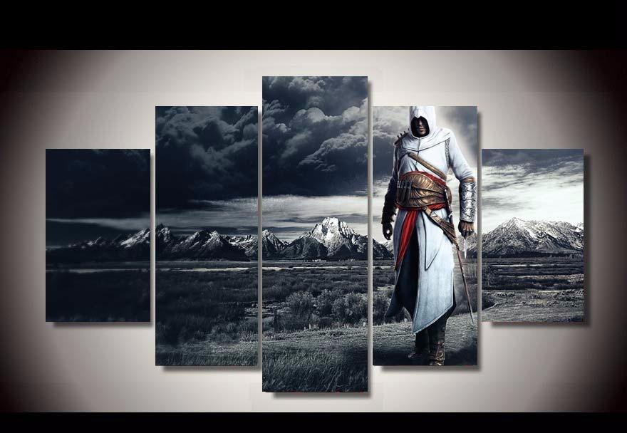 5 Piece Assassin's Creed Altair Movie Canvas Wall Art Paintings - It Make Your Day
