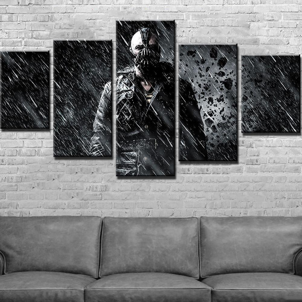 5 Piece Bane Abstract Movie Canvas Wall Art Paintings - It Make Your Day